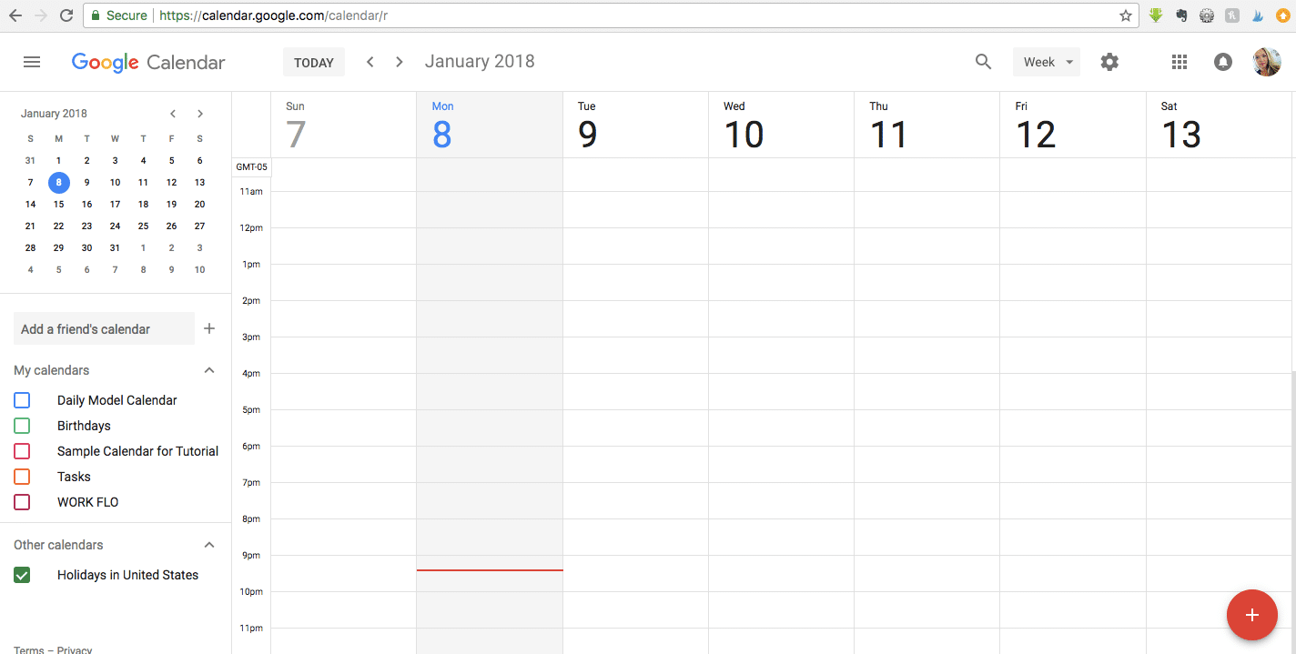 Blank Google Calendar : How to create a recurring agenda that s emailed your