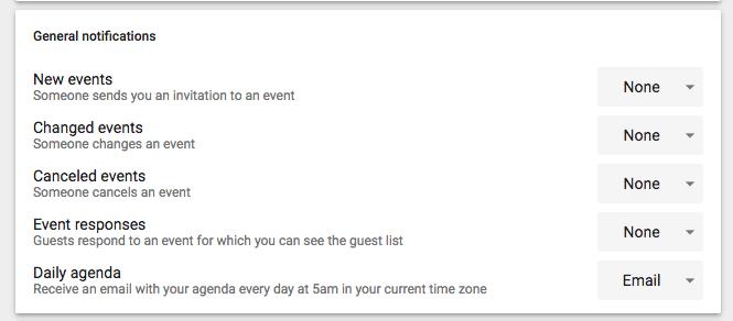 Google Daily Agenda