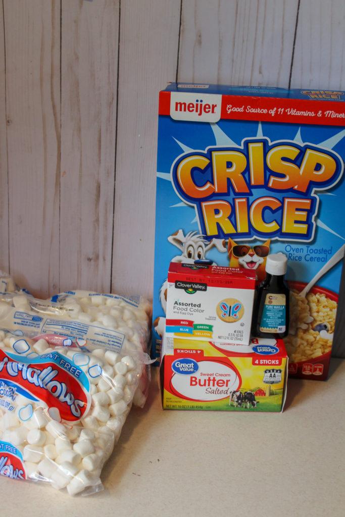 Recipe for Watermelon Rice Crispie Treats
