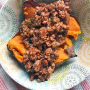 Clean eating sloppy joe recipe with sweet potatoe