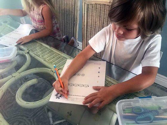 Our first week of homeschool