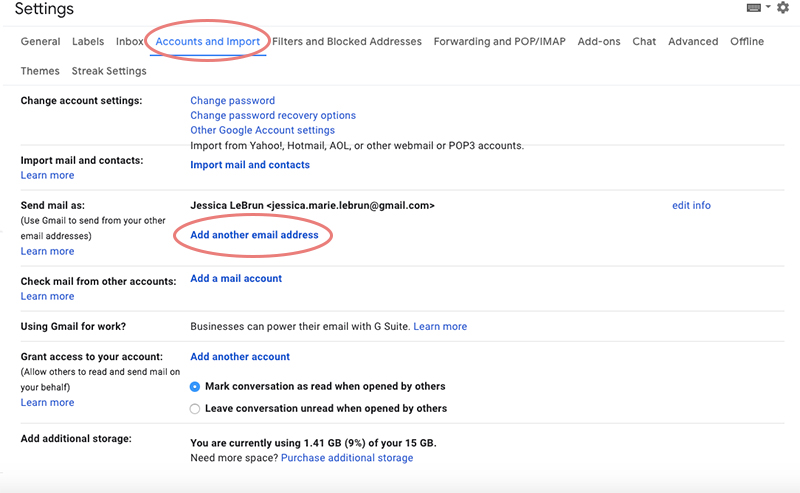 Add email account to Gmail