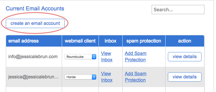 Create an email account at your domain