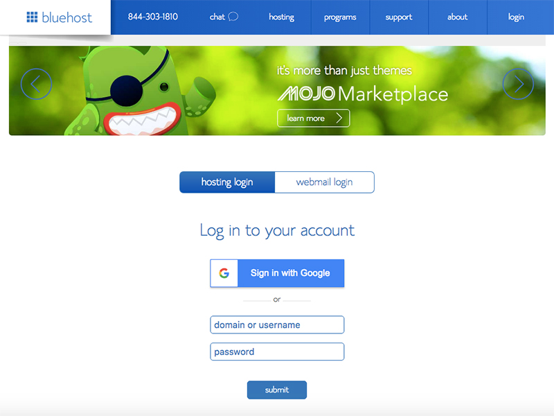 Login to Bluehost