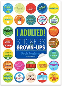 I Adulted Sticker Book