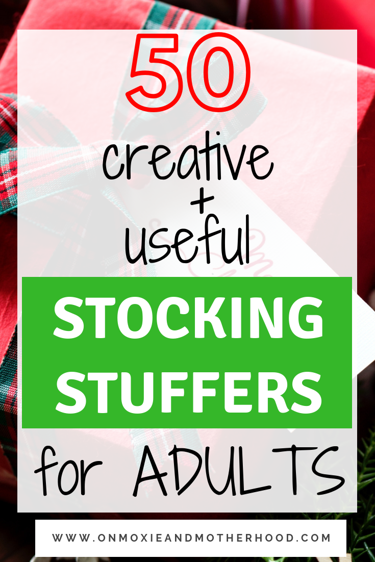 useful and creative stocking stuffers for adults