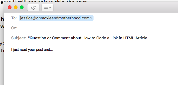 email link html