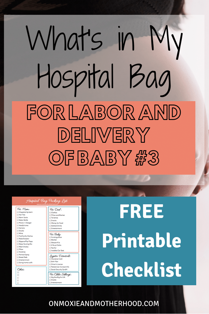 hospital bag packing list what you really need free printable