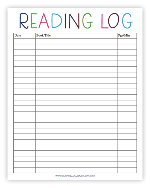 photograph about Book Log Printable named Free of charge Printable Looking through Log, Sight Terms Lists and Master in the direction of