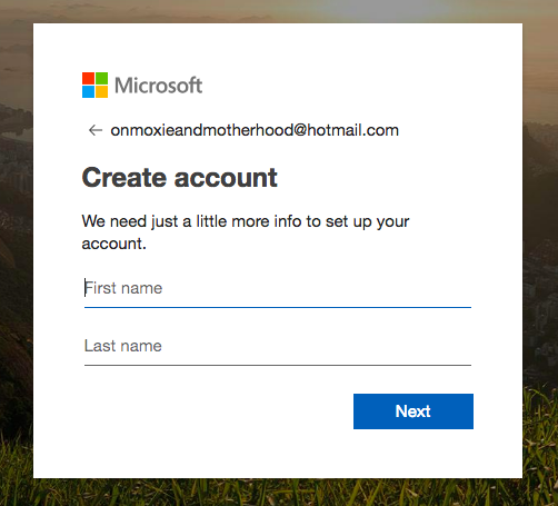 create email account hotmail