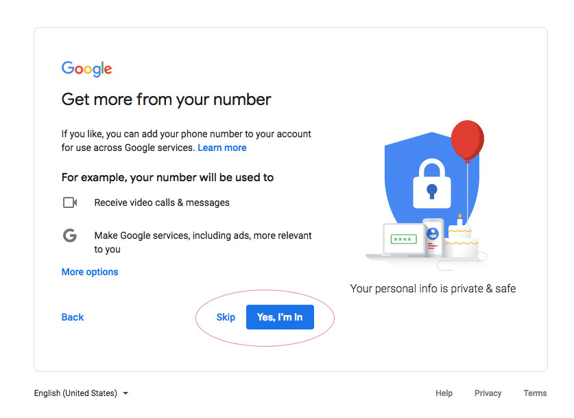 gmail account email setup