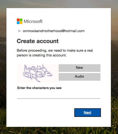 hotmail account setup