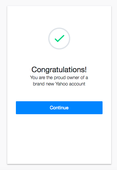 how to create an email yahoo