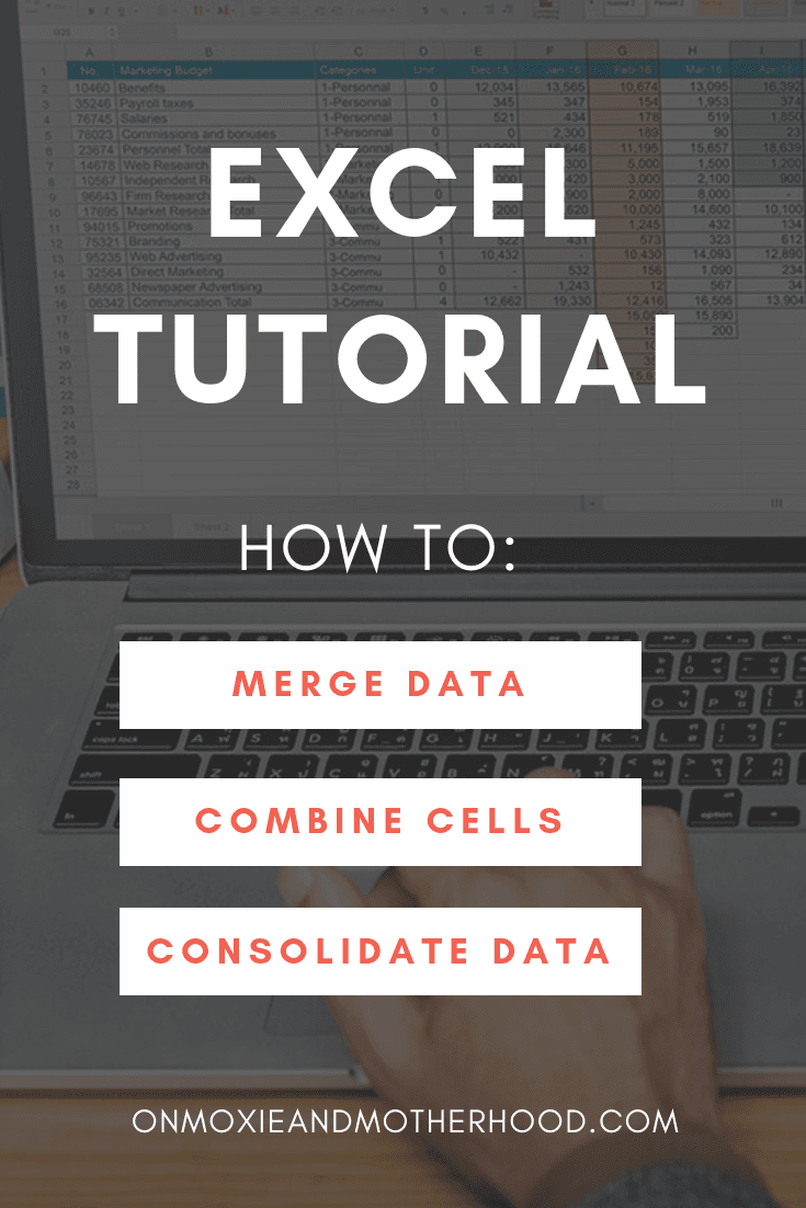 how to merge data in excel