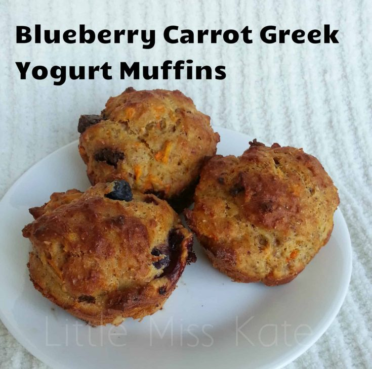 Blueberry Carrot Muffins made with Greek Yogurt {Recipe} #nutritionmonth