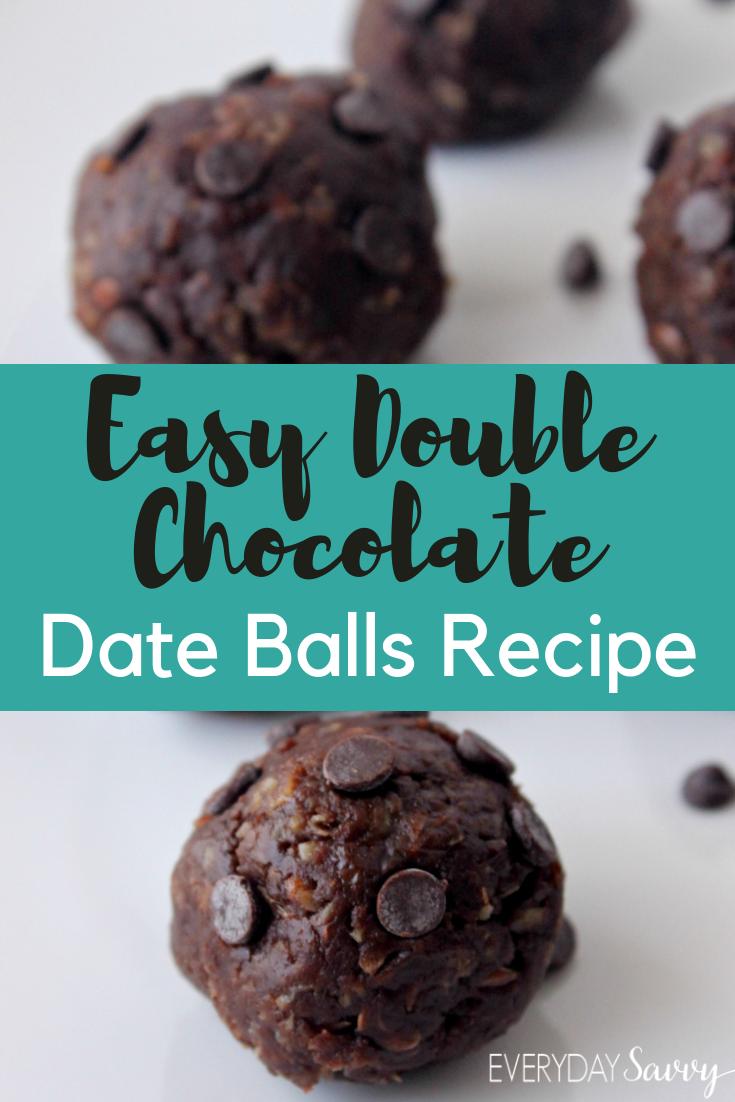 Chocolate Date Balls – Double Chocolate Energy Balls Recipe