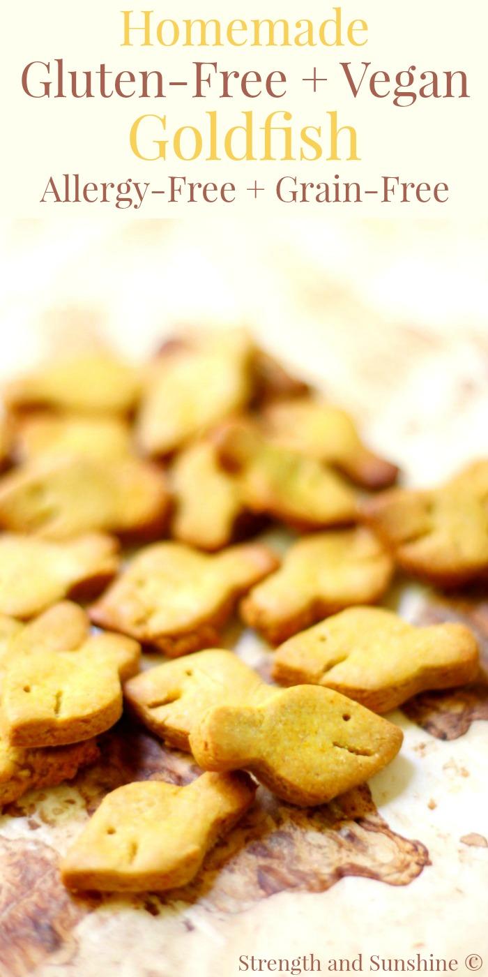 Homemade Gluten-Free + Vegan Goldfish (Allergy-Free, Grain-Free)