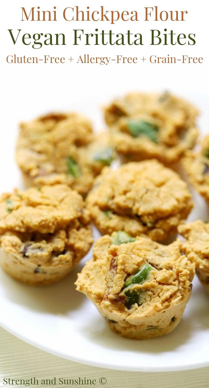 Mini Chickpea Flour Vegan Frittata Bites (Gluten-Free, Allergy-Free)