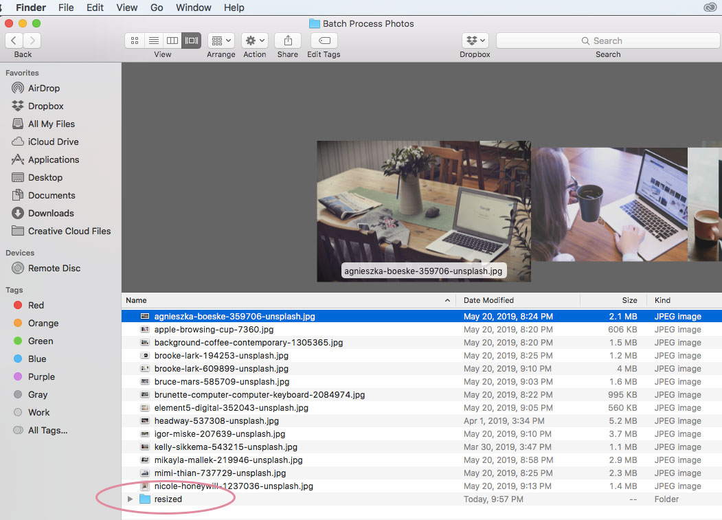 how to batch process in photoshop