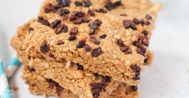 Healthy Chocolate Chip Peanut Butter Granola Bars