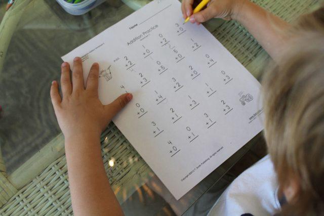 first year of homeschool math reading