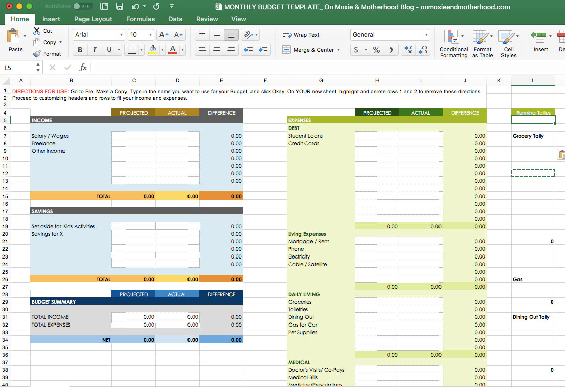 Small Business Budget Template Excel Free - Professional ...