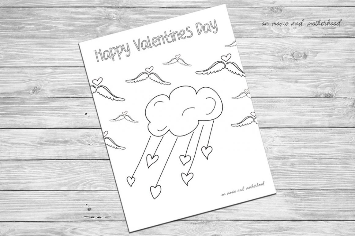 valentines day coloring sheet printables