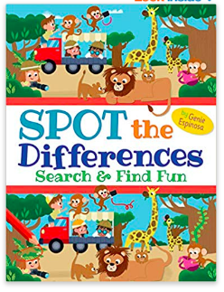 activities for kids spot the difference books