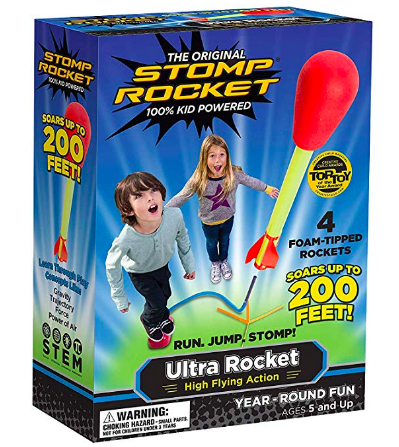 activities for kids to do at home, stomp rocket