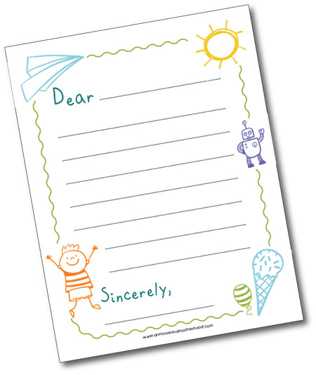 printable letter pen pals